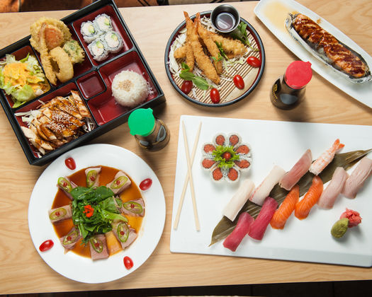 Japanese Menu items photographed for advertising.