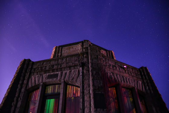 Vista House at midnight