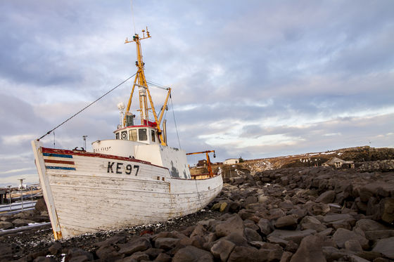Beached Boad in Iceland!