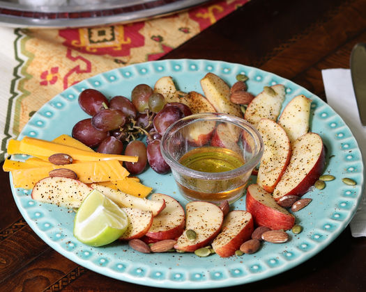 Spiced Fruit with Nuts and Honey