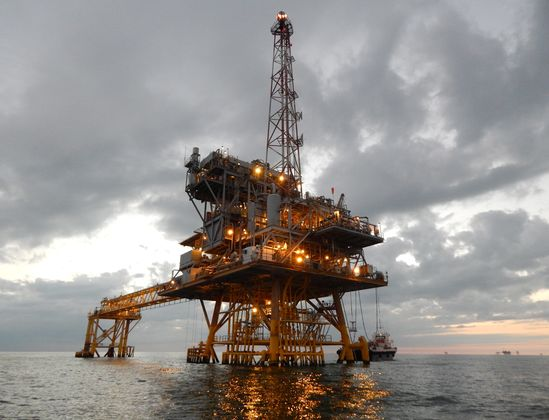 Gas Rig in the Gulf of Mexico