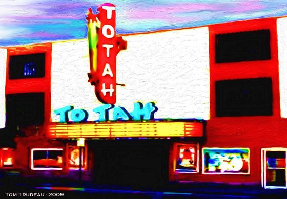 Totah Theater - Oil Painting by Tommi Trudeau.