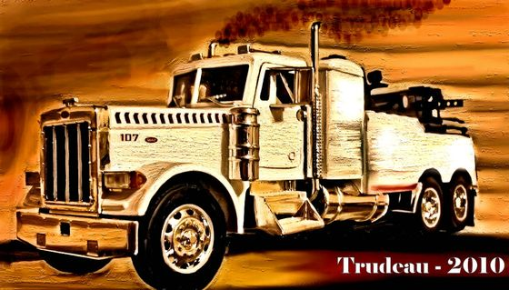Peterbilt Tow Truck - Oil Painting by Tommi Trudeau.