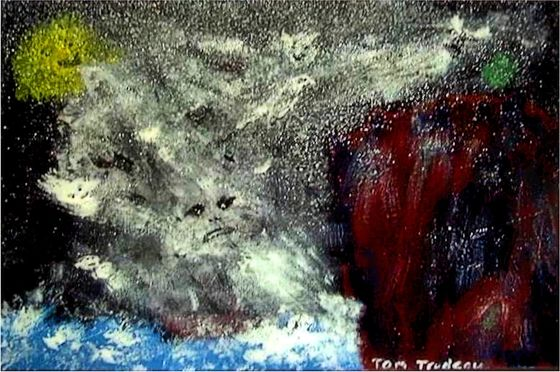 Gods of the Grecian Storm - Acrylic Painting by Tommi Trudeau.