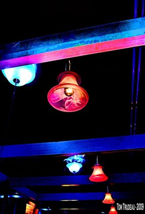 Lights at the Oxwood Inn - Artistic Photography by Tommi Trudeau.