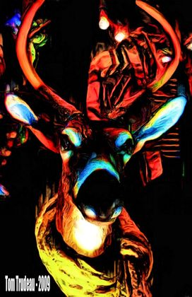 Satan's Reindeer - Artistic Photography by Tommi Trudeau.