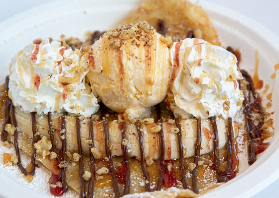 Banana split crepe by Curate Your Feed Photography