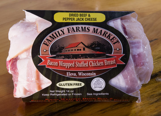 Family Farms - bacon wrapped chicken breast