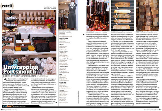 published retail piece for NH magazine